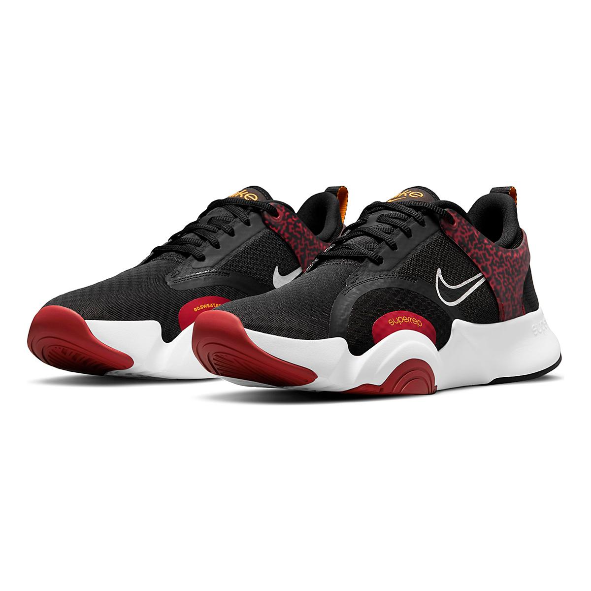 Men's Nike SuperRep Go 2 Training Shoe - Color: Black/White/Dark Cayenne/Solar Flare - Size: 6 - Width: Regular, Black/White/Dark Cayenne/Solar Flare, large, image 3
