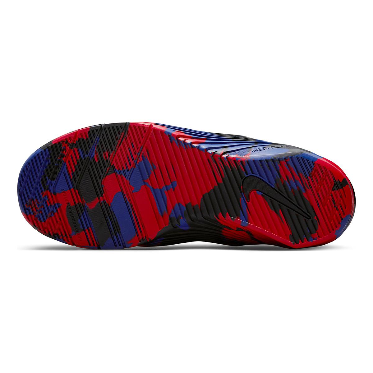 Men's Nike Metcon 6 Training Shoe - Color: White/Black/Gym Red/Deep Royal Blue - Size: 4 - Width: Regular, White/Black/Gym Red/Deep Royal Blue, large, image 3