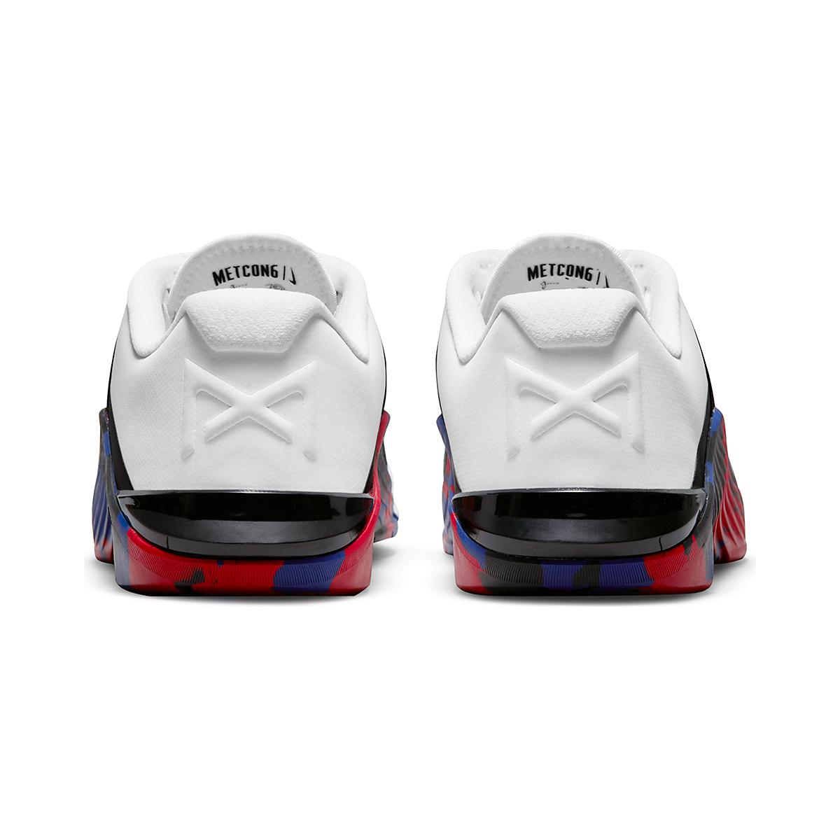 Men's Nike Metcon 6 Training Shoe - Color: White/Black/Gym Red/Deep Royal Blue - Size: 4 - Width: Regular, White/Black/Gym Red/Deep Royal Blue, large, image 5