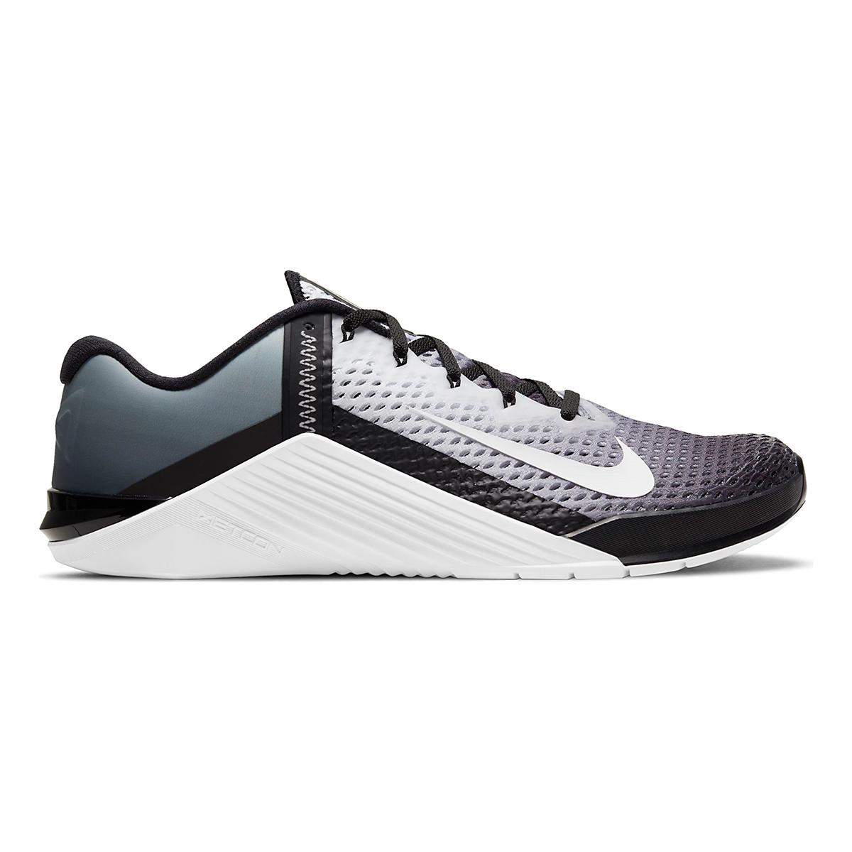 Men's Nike Metcon 6 Training Shoe - Color: Black/White - Size: 4 - Width: Regular, Black/White, large, image 1