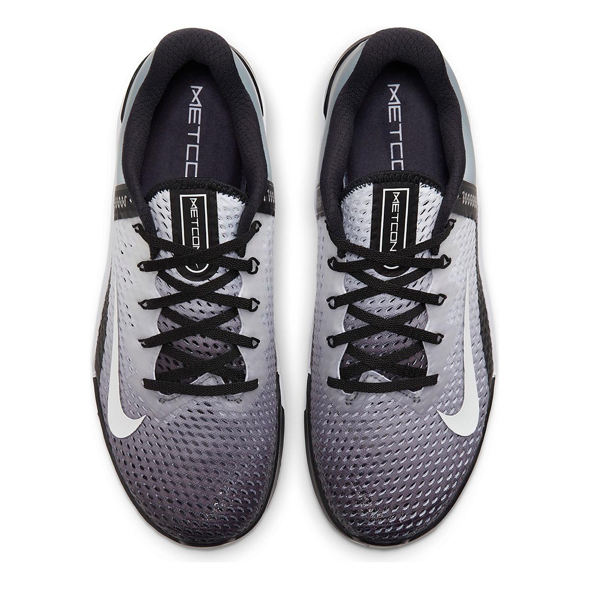 Men's Nike Metcon 6 Training Shoe - Color: Black/White - Size: 4 - Width: Regular, Black/White, large, image 6