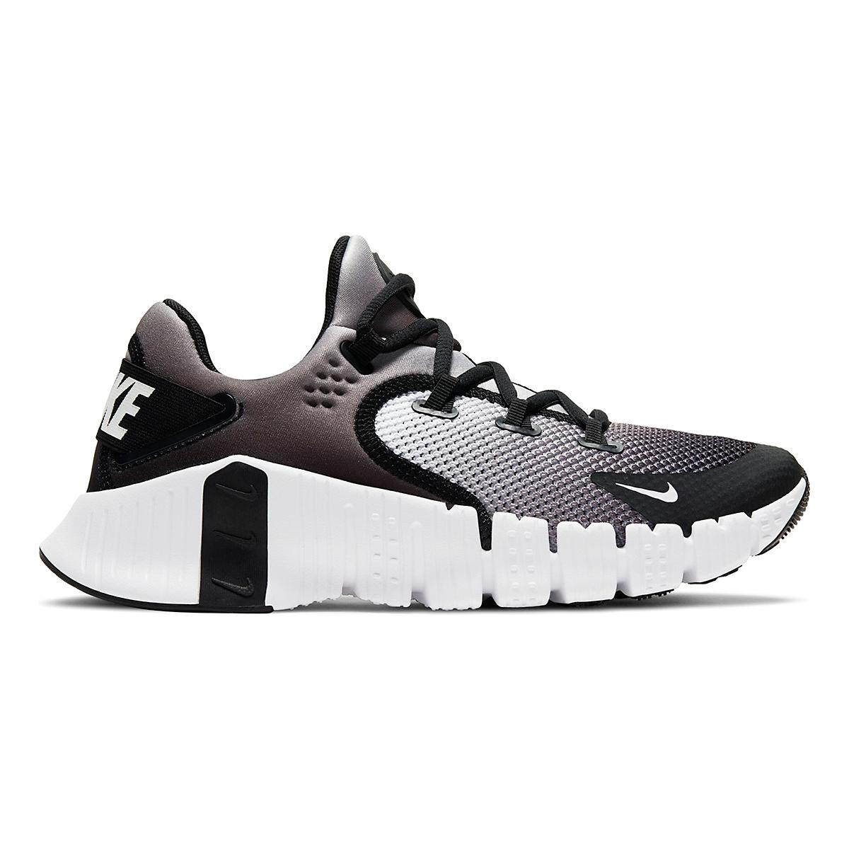 Women's Nike Free Metcon 4 Training Shoe - Color: White/Black - Size: 5 - Width: Regular, White/Black, large, image 1