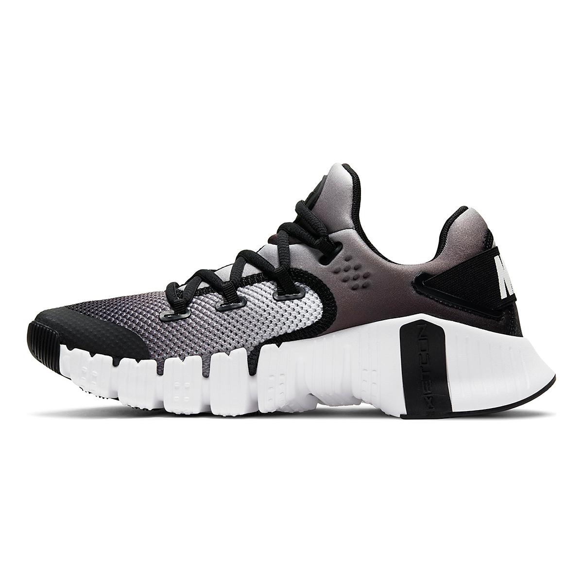 Women's Nike Free Metcon 4 Training Shoe - Color: White/Black - Size: 5 - Width: Regular, White/Black, large, image 2