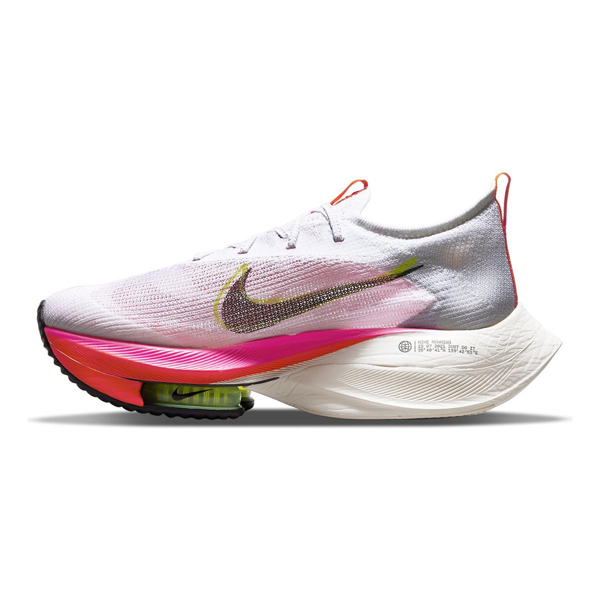 Men's Nike Air Zoom Alphafly Next% Flyknit Running Shoe - Color: Rawdacious - Size: 6 - Width: Regular, Rawdacious, large, image 2