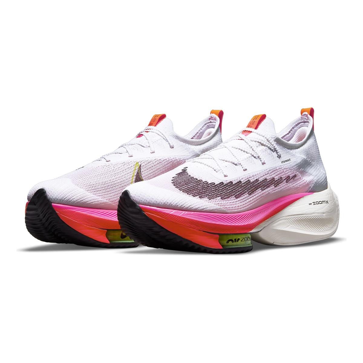 Men's Nike Air Zoom Alphafly Next% Flyknit Running Shoe - Color: Rawdacious - Size: 6 - Width: Regular, Rawdacious, large, image 4