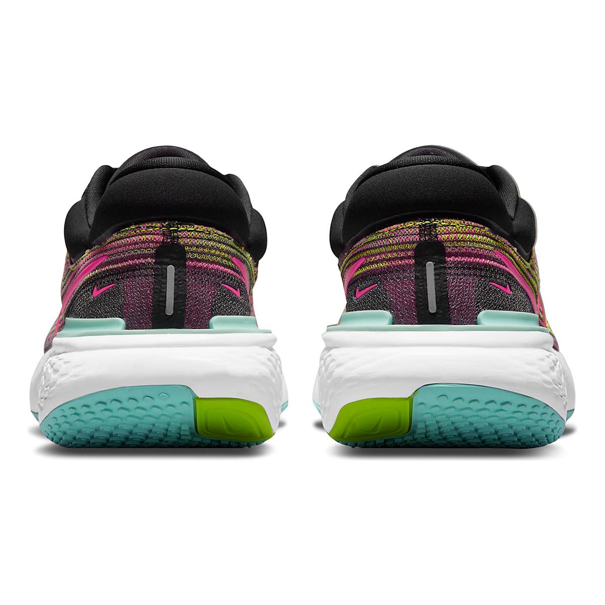 Women's Nike Zoomx Invincible Run FlyKnit Running Shoe - Color: Volt/Bright Mango/Black/Light Dew - Size: 5 - Width: Regular, Volt/Bright Mango/Black/Light Dew, large, image 5