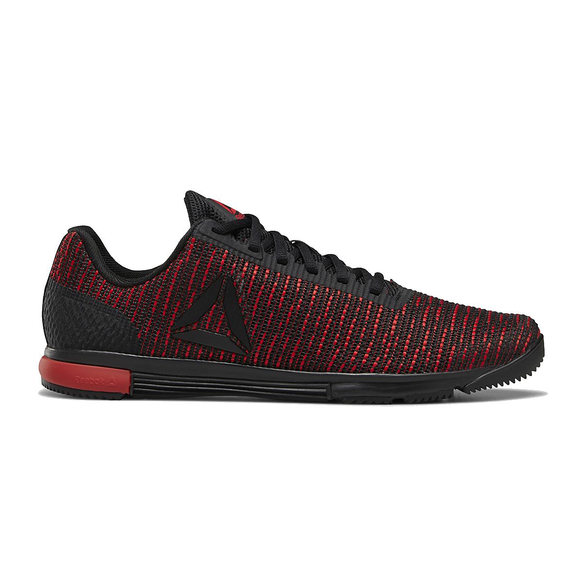 Men's Reebok Speed TR Flexweave Cross Training Shoes - Color: Black/Primal Red/Black - Size: 7 - Width: Regular, Black/Primal Red/Black, large, image 1