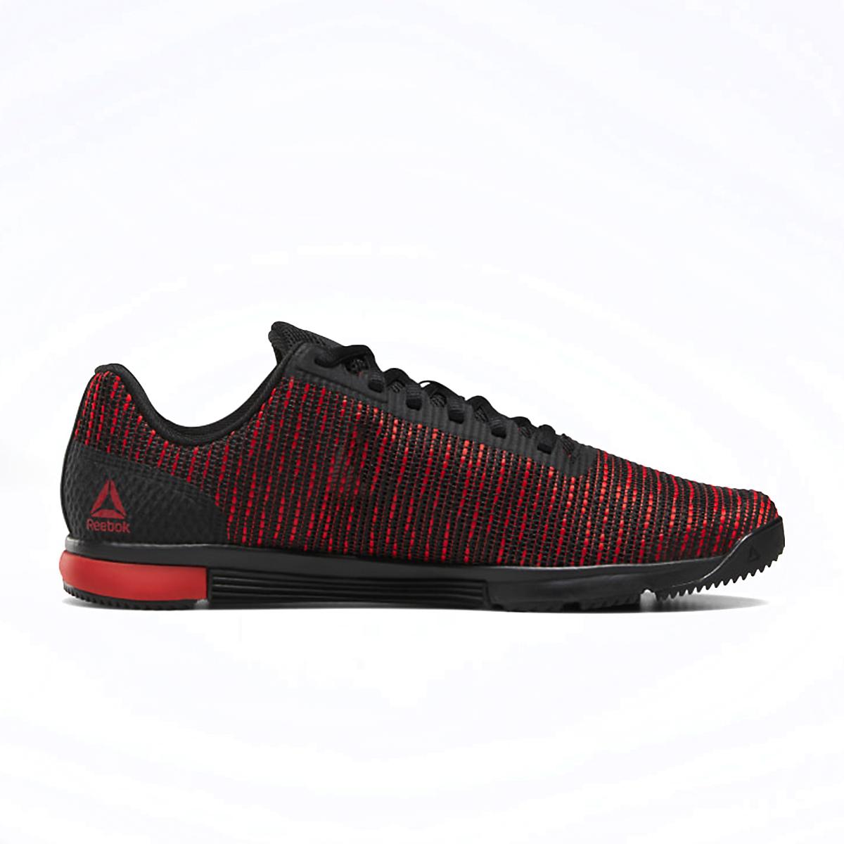 Men's Reebok Speed TR Flexweave Cross Training Shoes - Color: Black/Primal Red/Black - Size: 7 - Width: Regular, Black/Primal Red/Black, large, image 2