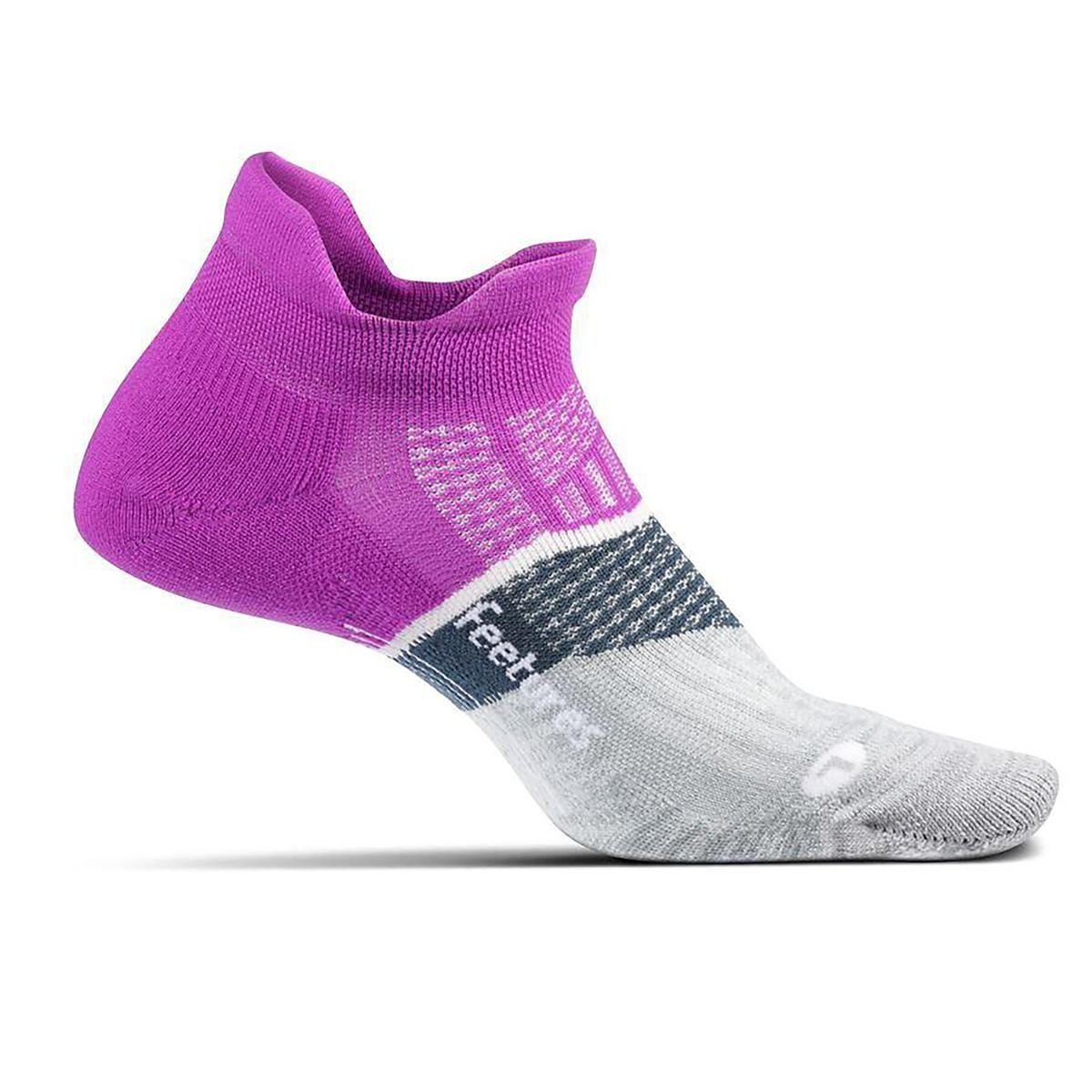 Feetures Elite Light Cushion No Show Tab Socks - Color: Purple Addict - Size: S, Purple Addict, large, image 1