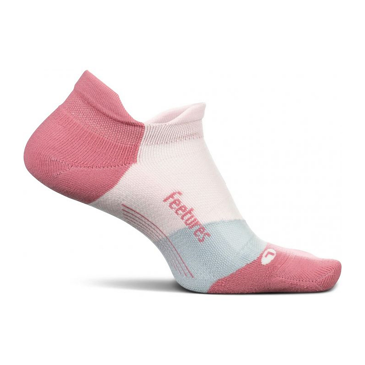 Feetures Elite Light Cushion No Show Sock - Color: Polychrome Pink - Size: S, Polychrome Pink, large, image 1
