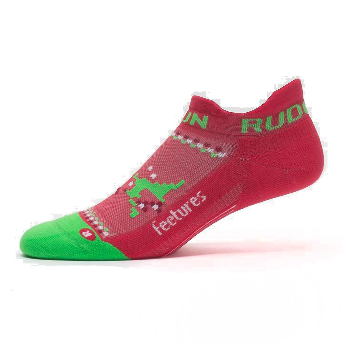 Feetures Elite Light Cushion No Show Tab Socks - Color: Run Rudolph - Size: S, Run Rudolph, large, image 2