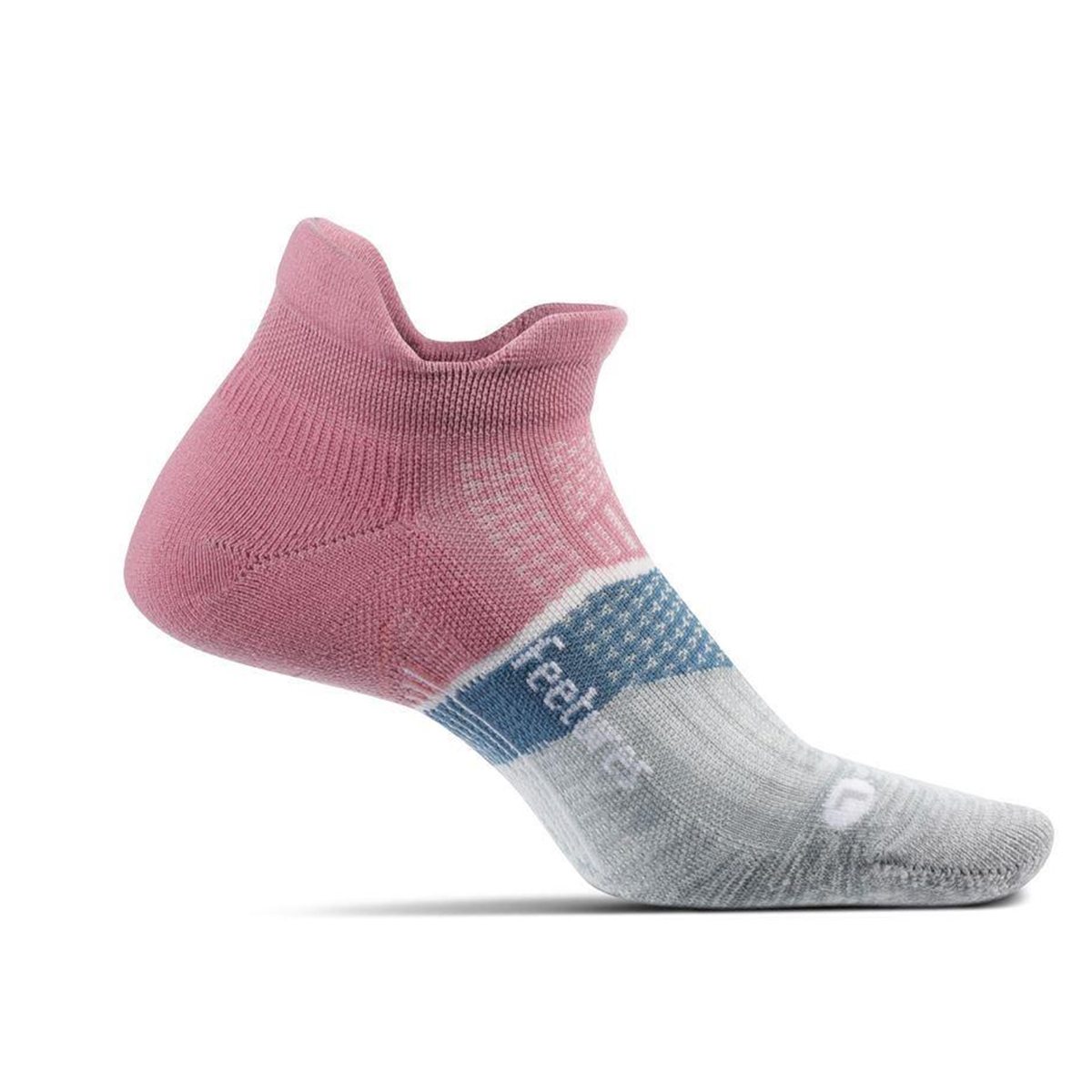Feetures Elite Ultra Light No Show Tab Socks - Color: Heather Rose - Size: S, Heather Rose, large, image 1