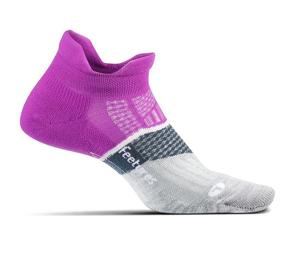 Feetures Elite Ultra Light Cushion No Show Tab Socks - Color: Purple Addict - Size: S, Purple Addict, large, image 1