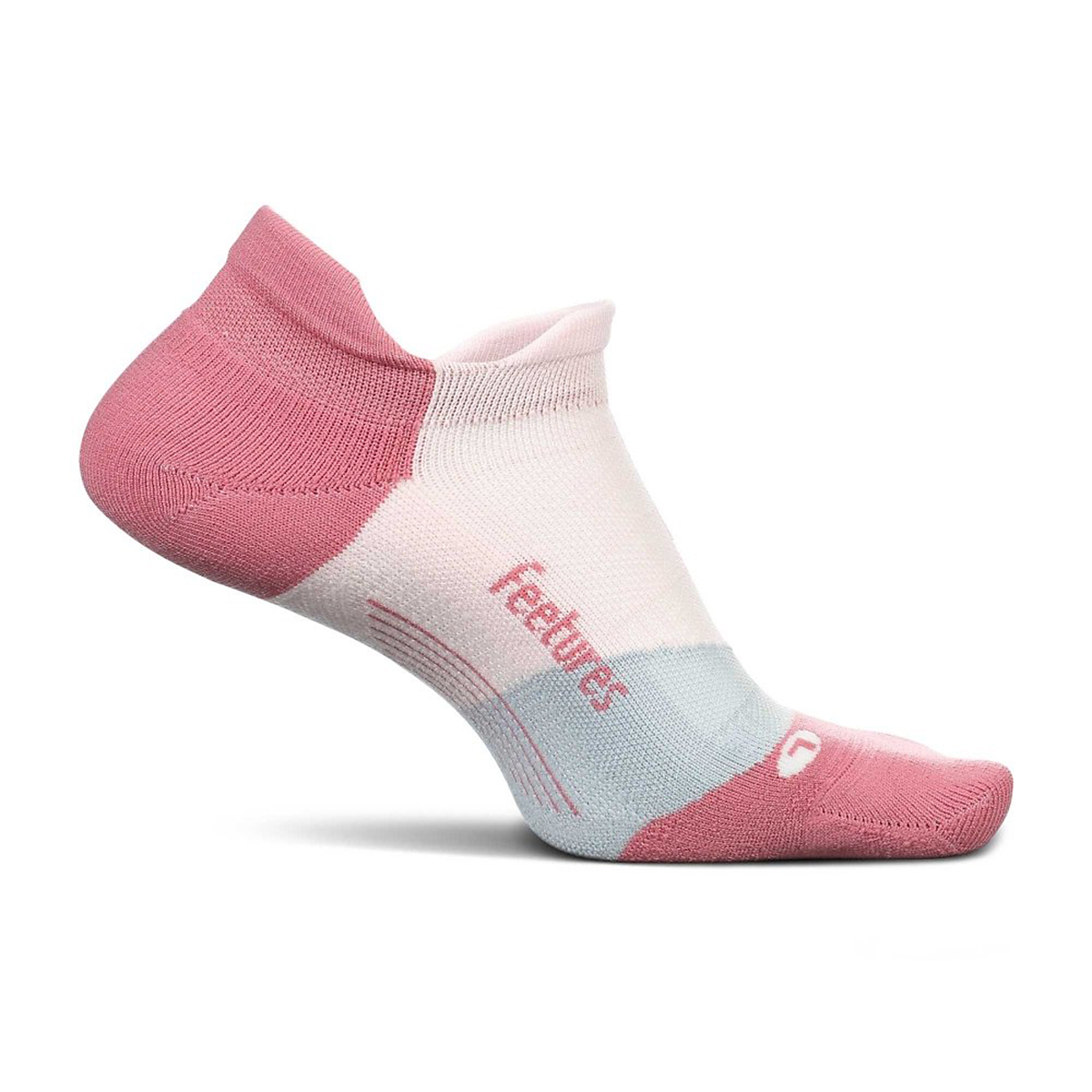 Feetures Elite Ultra Light No Show Sock - Color: Polychrome Pink - Size: S, Polychrome Pink, large, image 1
