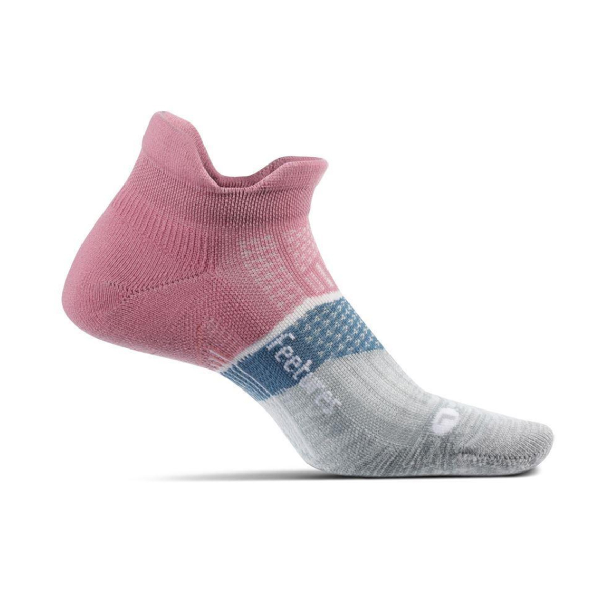 Feetures Elite Max Cushion No Show Tab Socks - Color: Heather Rose - Size: S, Heather Rose, large, image 1