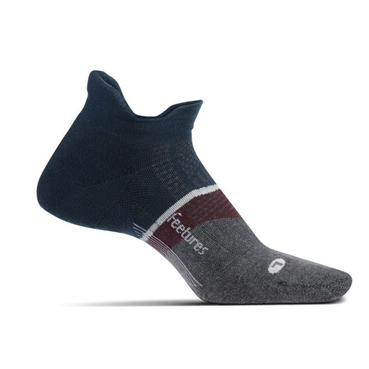 Feetures Elite Max Cushion No Show Tab Socks - Color: French Navy - Size: S, French Navy, large, image 1