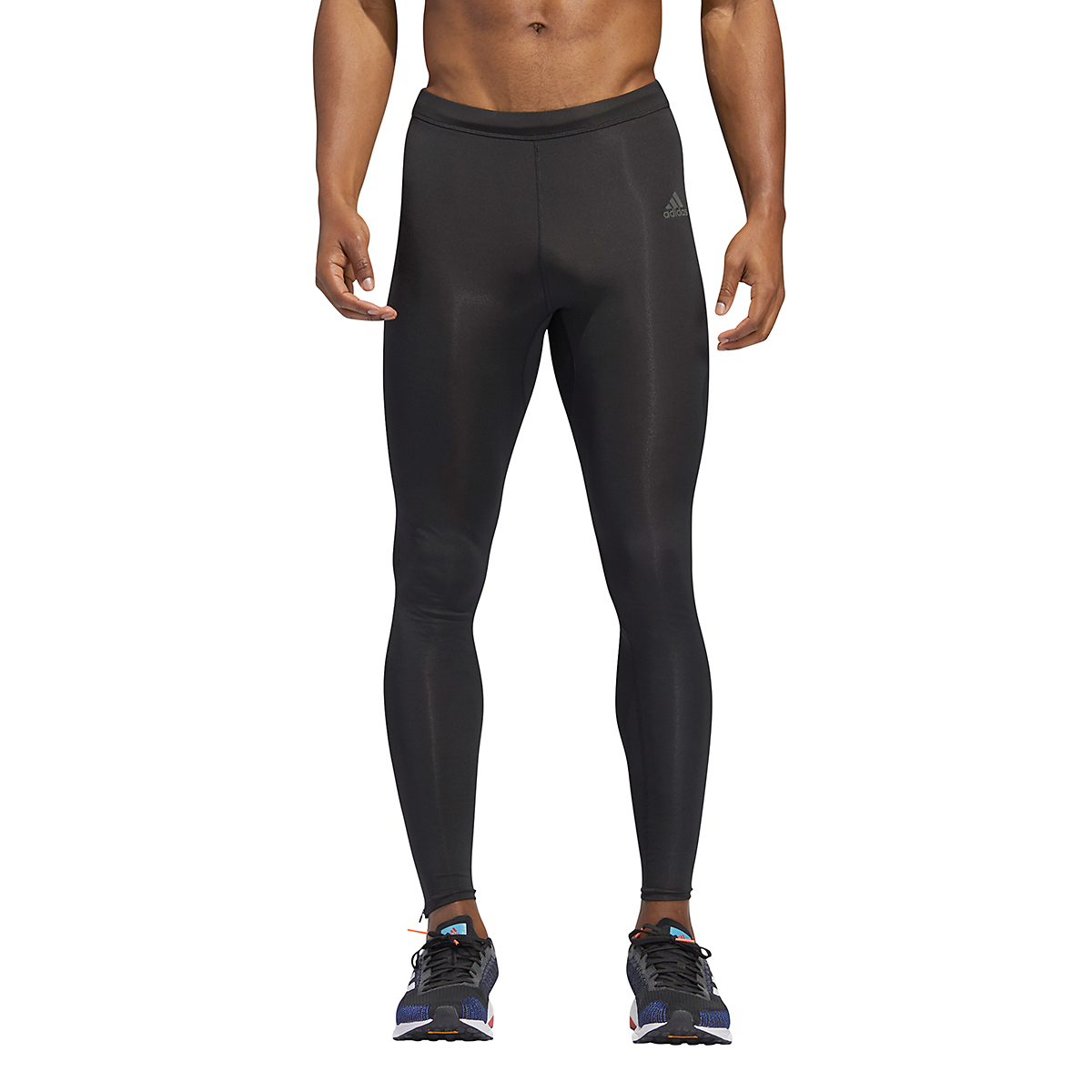Men's Adidas Own The Run Long Tights - Color: Black - Size: XS, Black, large, image 1