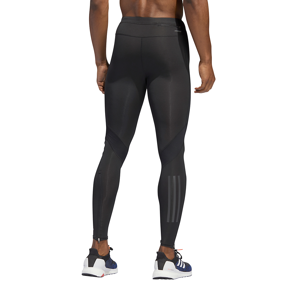 Men's Adidas Own The Run Long Tights - Color: Black - Size: XS, Black, large, image 2