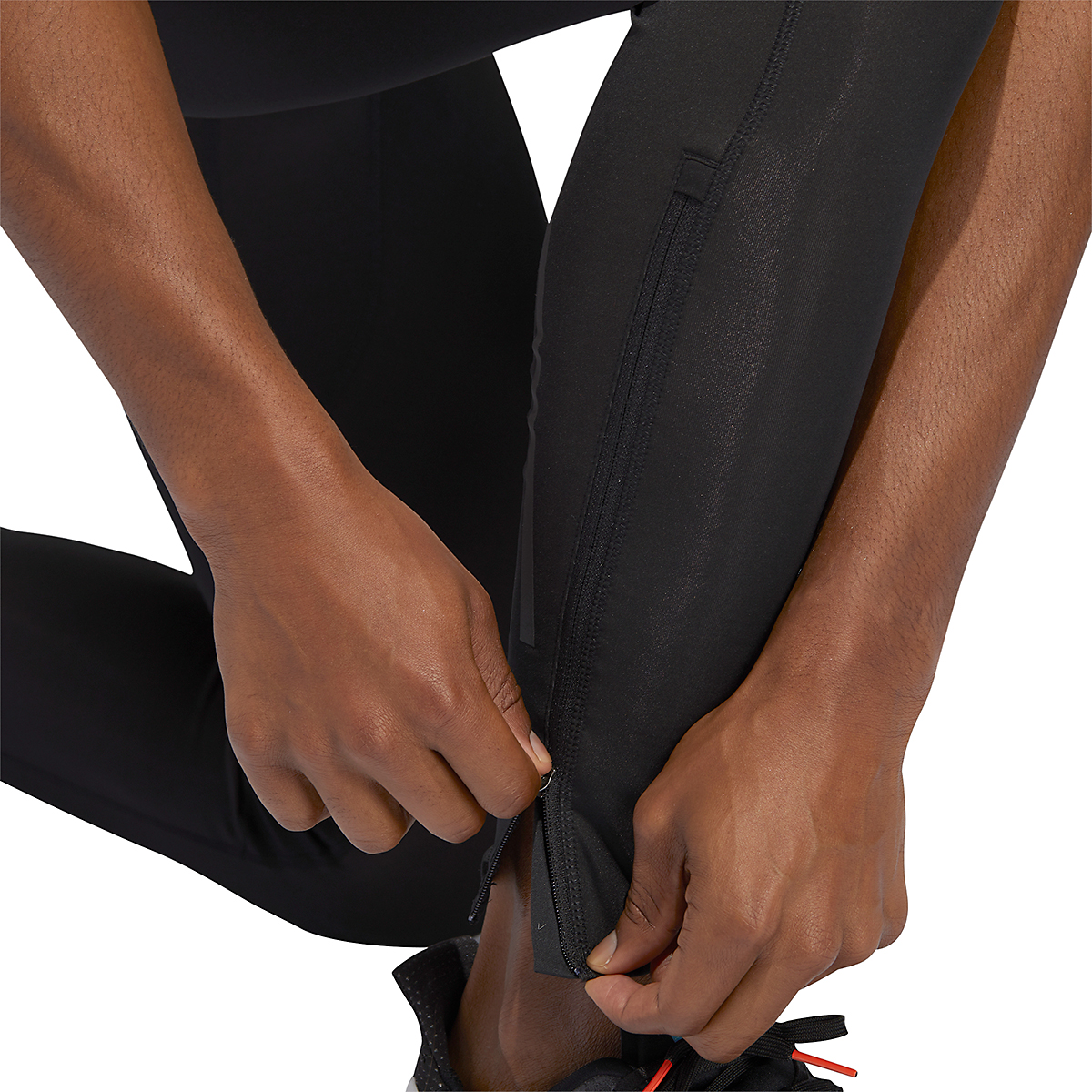 Men's Adidas Own The Run Long Tights - Color: Black - Size: XS, Black, large, image 5