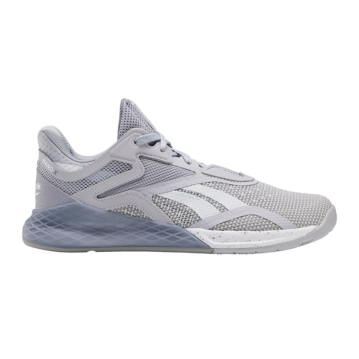 Women's Reebok Nano X Training Shoe - Color: Cold Grey/Cool Shadow/White - Size: 5 - Width: Regular, Cold Grey/Cool Shadow/White, large, image 1