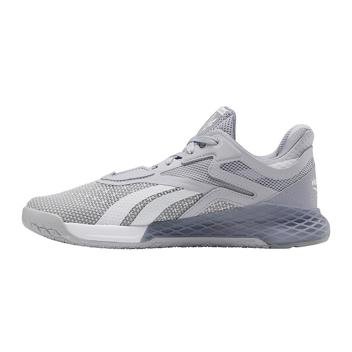 Women's Reebok Nano X Training Shoe - Color: Cold Grey/Cool Shadow/White - Size: 5 - Width: Regular, Cold Grey/Cool Shadow/White, large, image 2