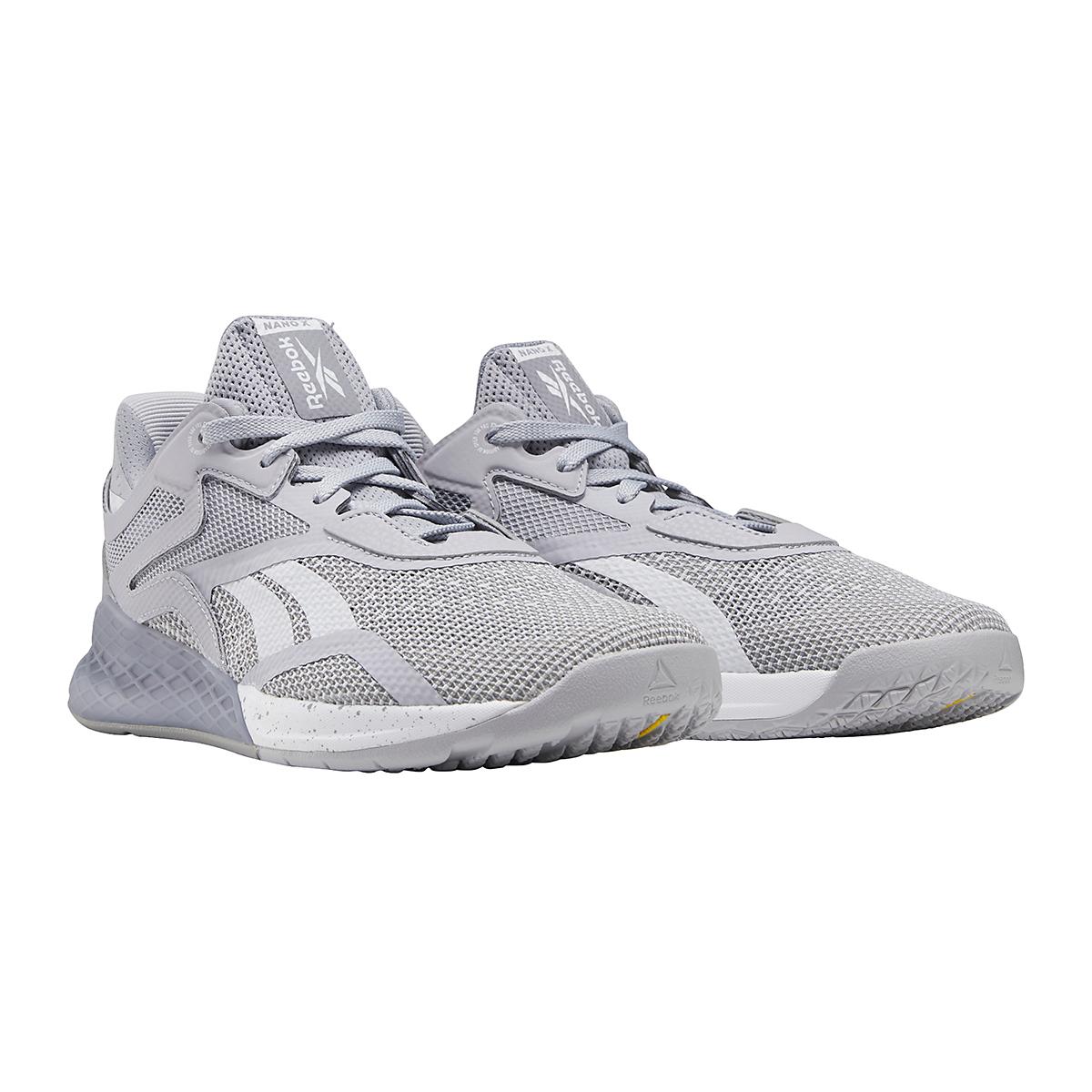 Women's Reebok Nano X Training Shoe - Color: Cold Grey/Cool Shadow/White - Size: 5 - Width: Regular, Cold Grey/Cool Shadow/White, large, image 3