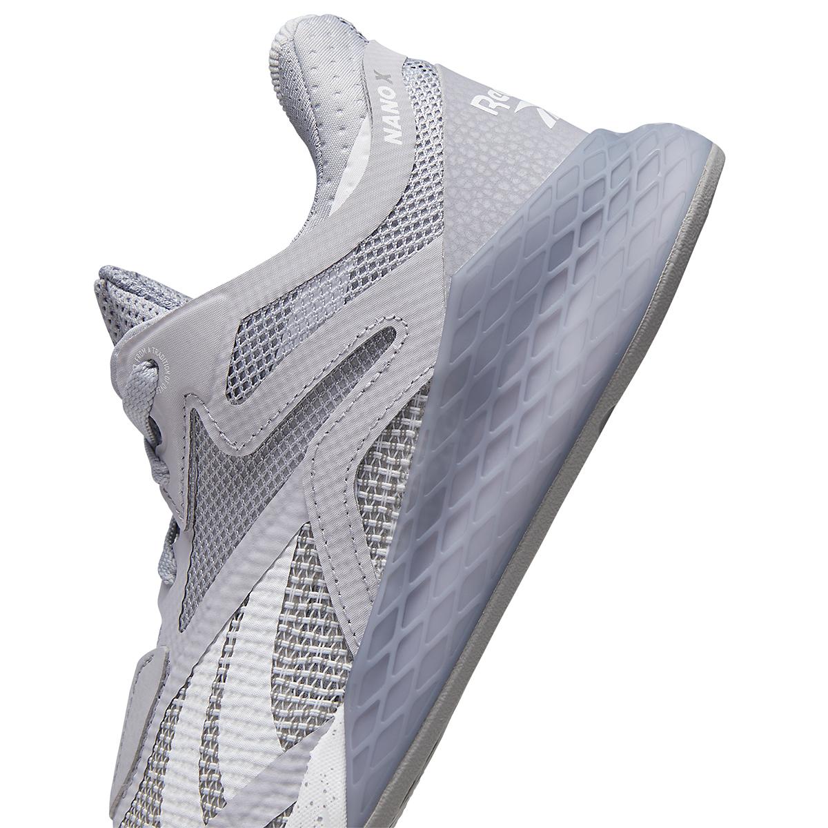 Women's Reebok Nano X Training Shoe - Color: Cold Grey/Cool Shadow/White - Size: 5 - Width: Regular, Cold Grey/Cool Shadow/White, large, image 5