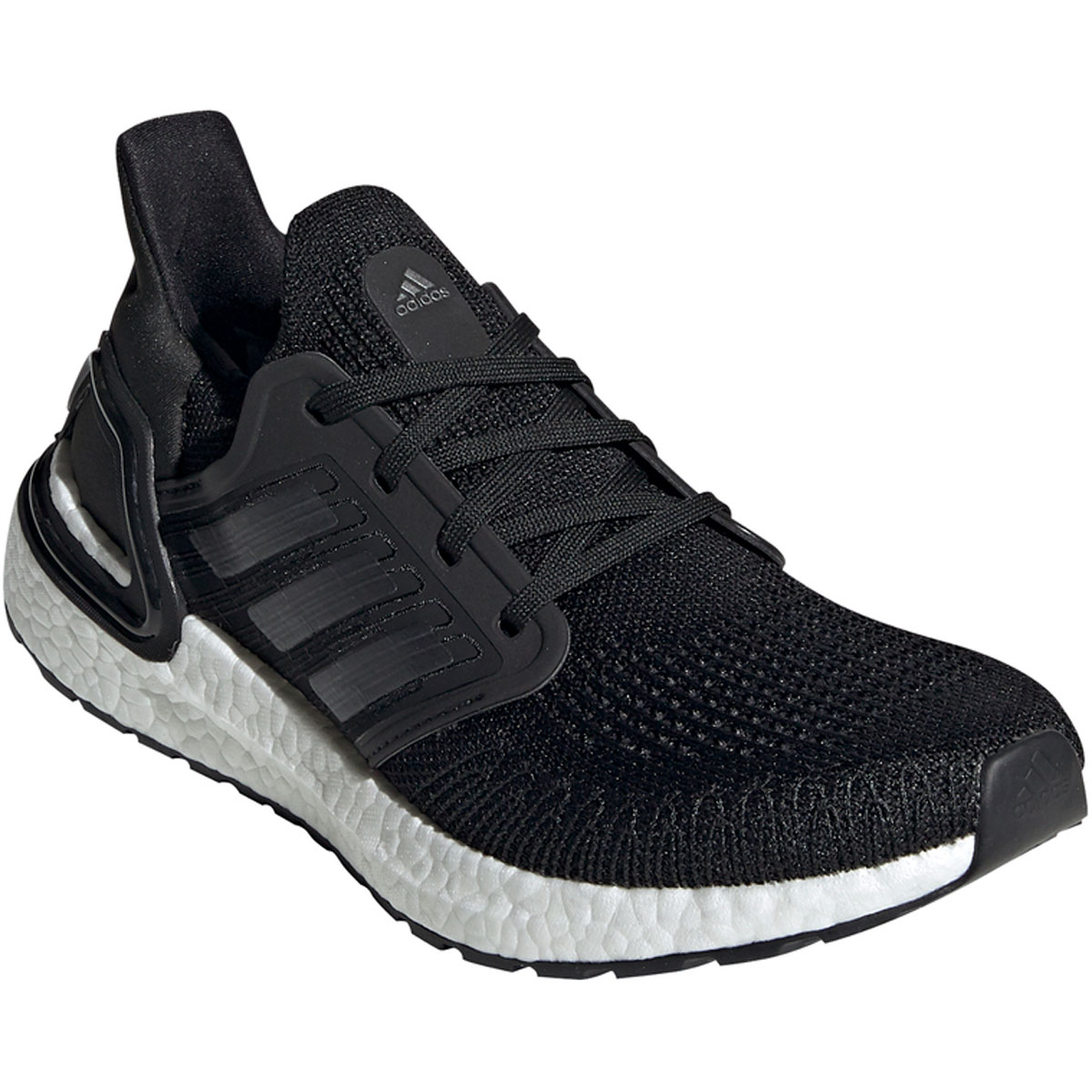 Women's Adidas UltraBOOST 20 Running Shoe - Color: Core Black/Feather White (Regular Width) - Size: 5, Core Black/Feather White, large, image 3