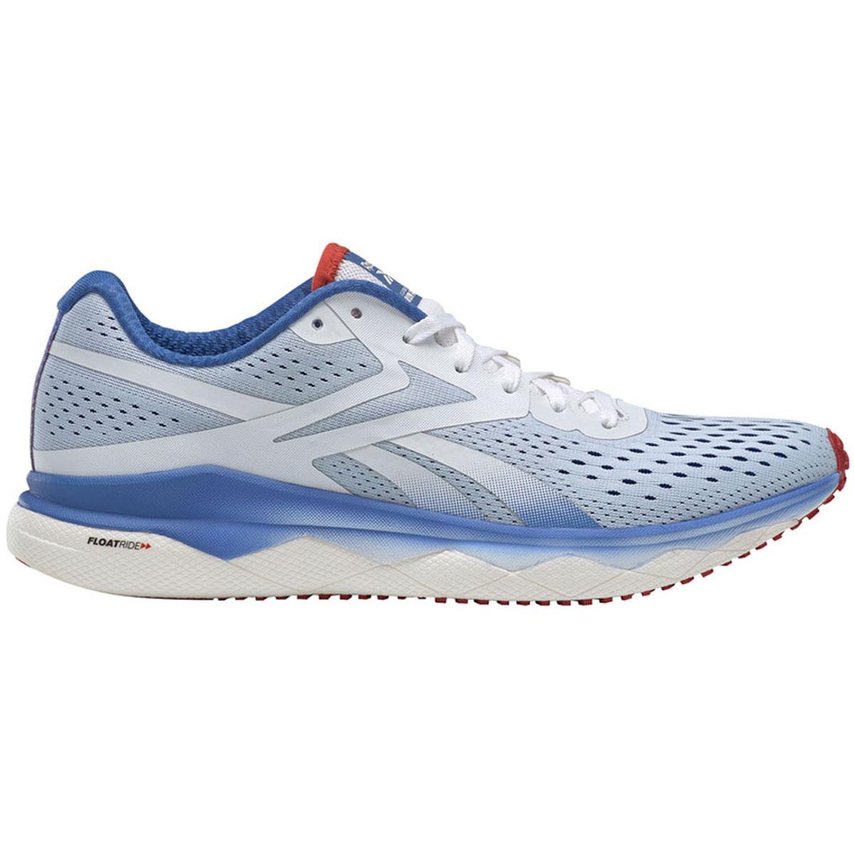 Men's Reebok Floatride Run Fast 2.0 Running Shoe - Color: White/Blue Blast Legacy Red (Regular Width) - Size: 8.5, White/Blue Blast Legacy Red, large, image 1