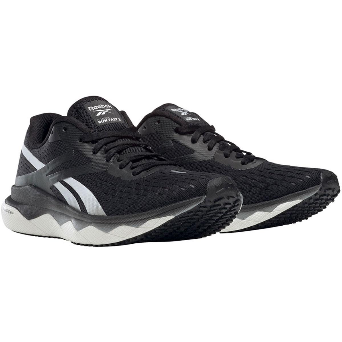 Women's Reebok Floatride Run Fast 2.0 Running Shoe - Color: Black/Pure Grey 3/White (Regular Width) - Size: 5, Black/Pure Grey 3/White, large, image 2