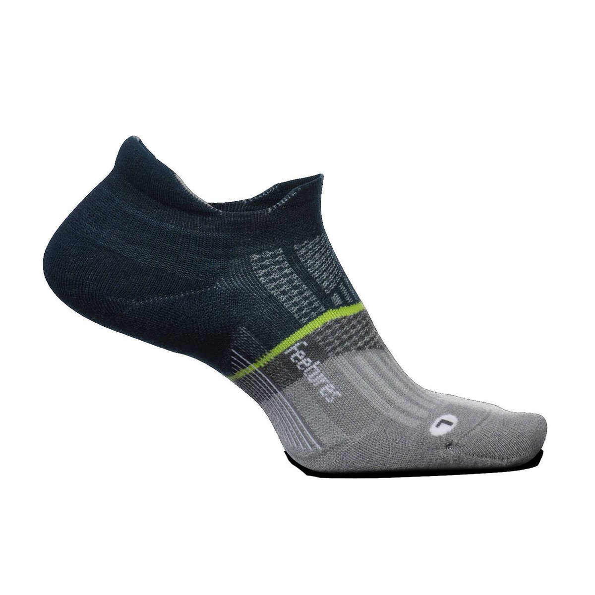 Feetures Merino 10 Cushion No Show Tab Socks - Color: French Navy - Size: S, French Navy, large, image 1