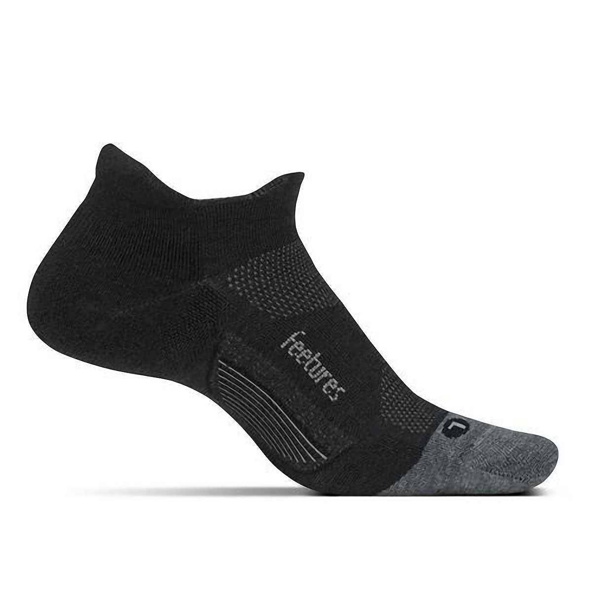 Feetures Merino 10 Ultra Light No Show Socks - Color: Charcoal - Size: S, Charcoal, large, image 1