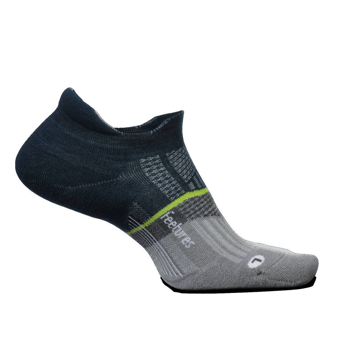 Feetures Merino 10 Ultra Light No Show Tab Socks - Color: French Navy - Size: S, French Navy, large, image 1