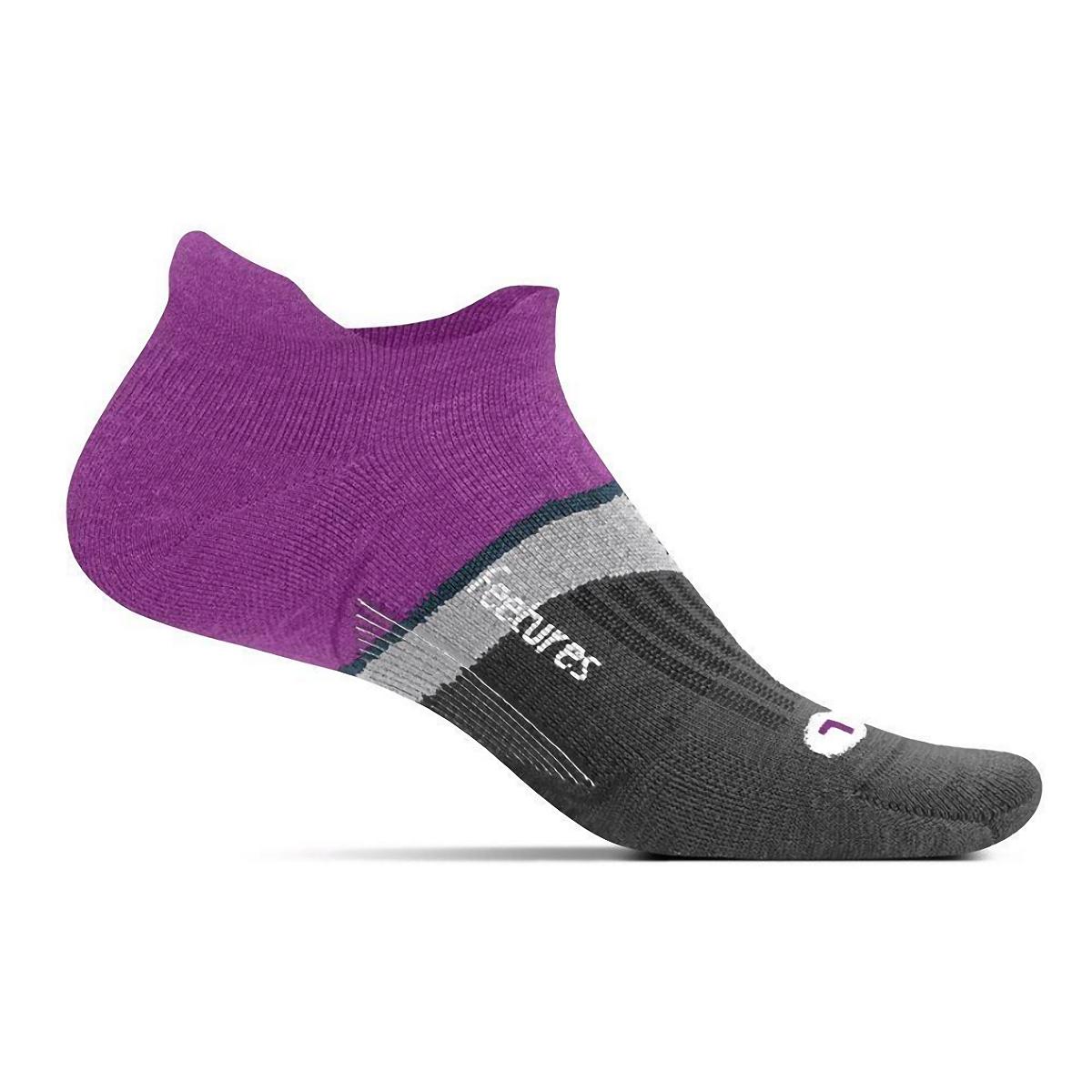 Feetures Merino 10 Ultra Light No Show Tab Socks - Color: Purple Addict - Size: S, Purple Addict, large, image 1