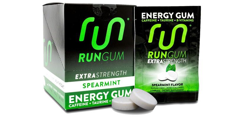 Run Gum Extra Strength - 2 Pieces - Flavor: Spearmint - Size: Box of 12, Spearmint, large, image 1