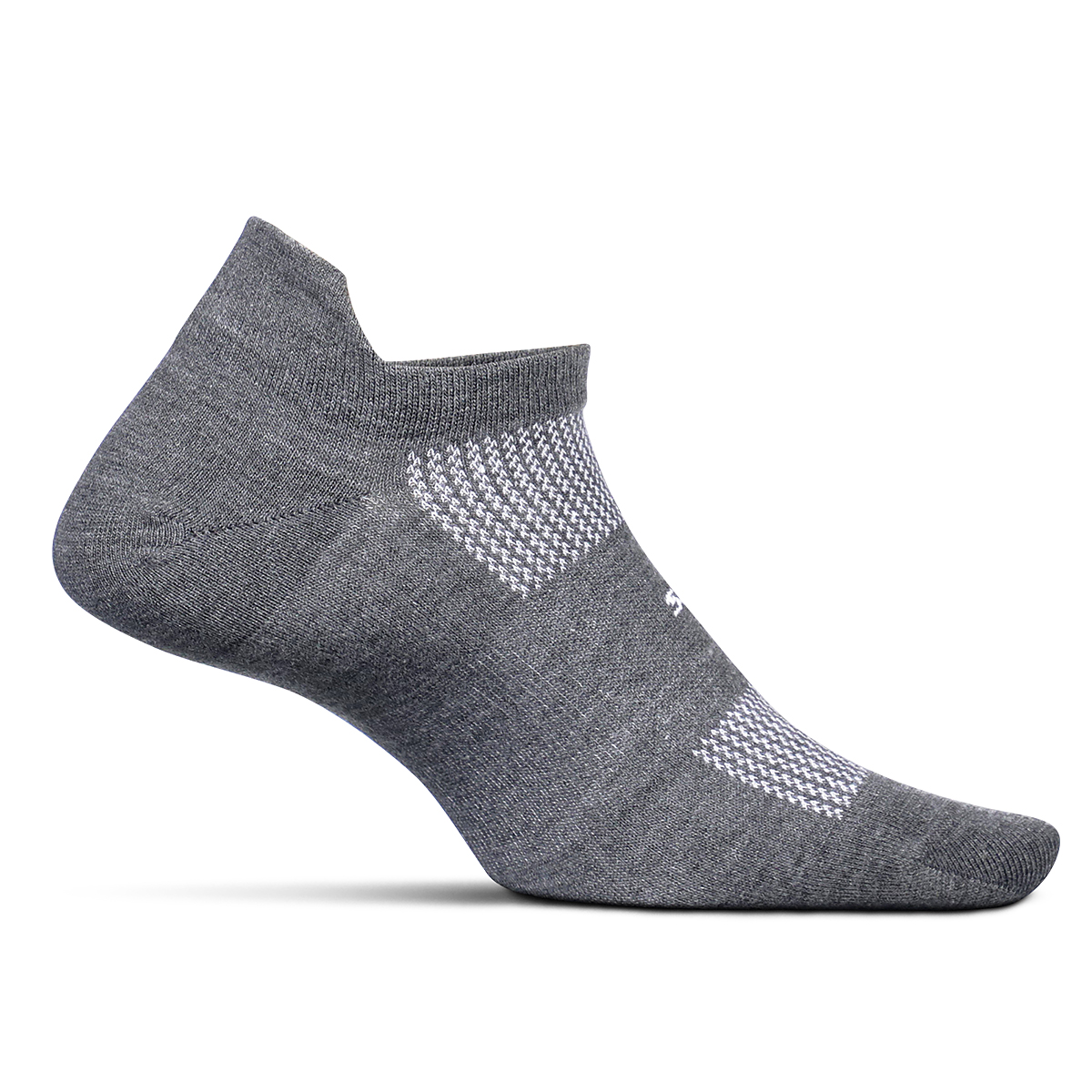 Feetures HP Cushion No Show Tab Socks - Color: Grey - Size: S, Grey, large, image 1