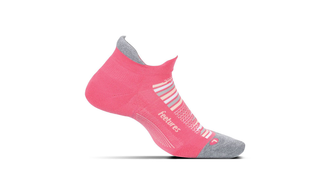 Feetures Elite Max Cushion No Show Tab Socks - Color: Hibiscus Size: L, Hibiscus, large, image 1