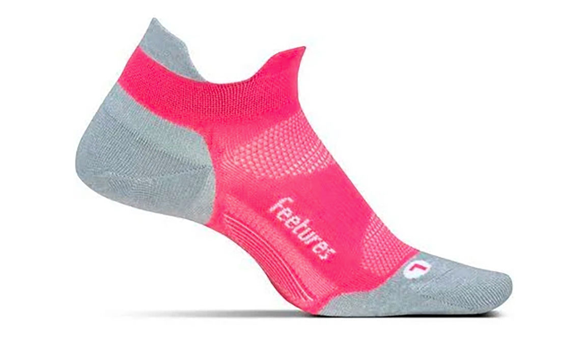 Feetures Elite Ultra Light No Show Tab Socks - Color: Coral Size: M, Coral, large, image 1