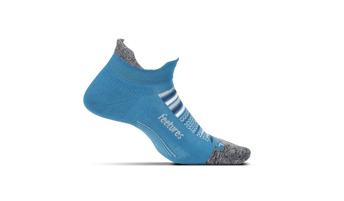 Feetures Elite Ultra Light No Show Tab Socks - Color: Maui Blue Size: S, Blue/Grey, large, image 1