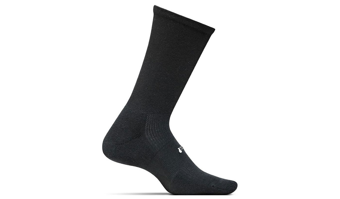 Feetures HP Cushion Crew Sock - Color: Black/White Size: M, Black/White, large, image 1
