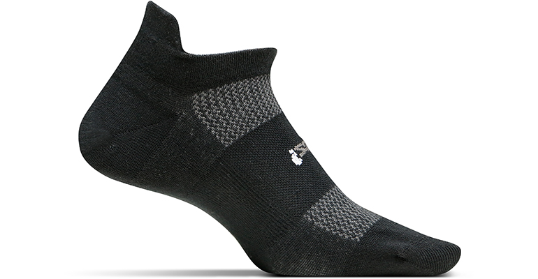 Feetures Hp Ultra Light No Show Tab Sock - Color: Black - Size: L, Black, large, image 1