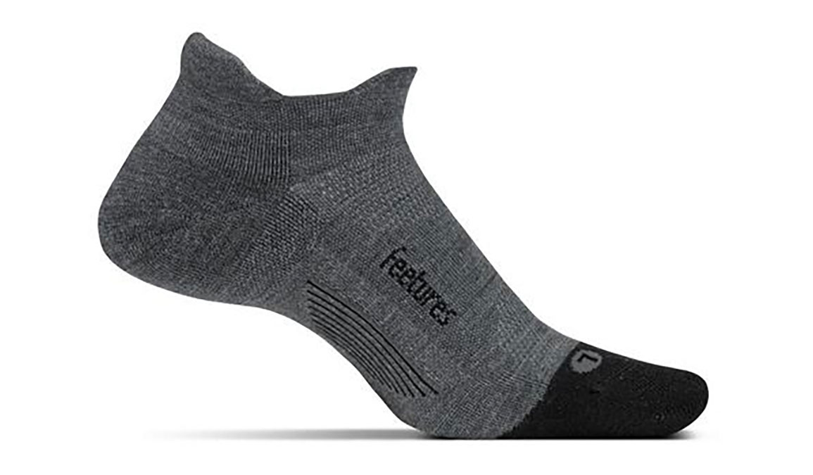 Feetures Merino 10 Cushion No Show Tab Socks - Color: Grey Size: XL, Grey, large, image 1