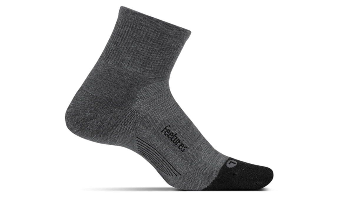Feetures Merino 10 Ultra Light Quarter - Color: Grey Size: M, Grey, large, image 1