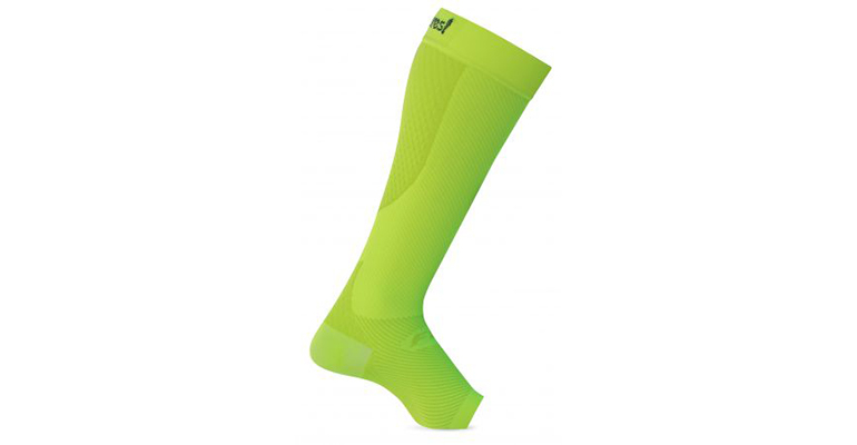 Feetures Plantar Fasciitis Calf Sleeves - Color: Reflector - Size: L, Yellow, large, image 1