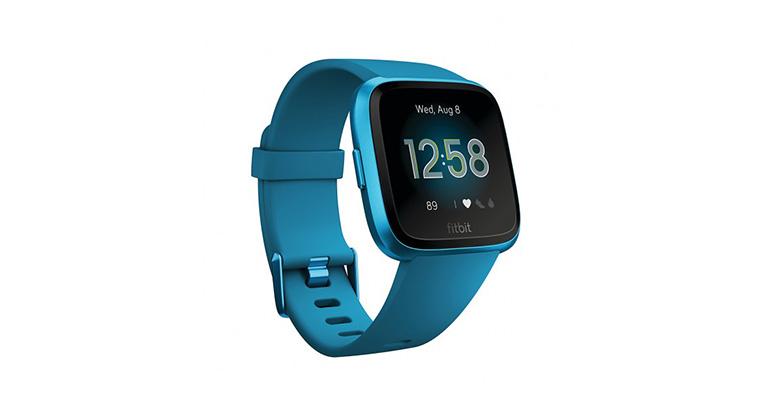 Fitbit Versa Lite - Color: Marina Blue/Marina Blue Aluminum Size: OS - CT, Marina Blue/Marina Blue Aluminum, large, image 2