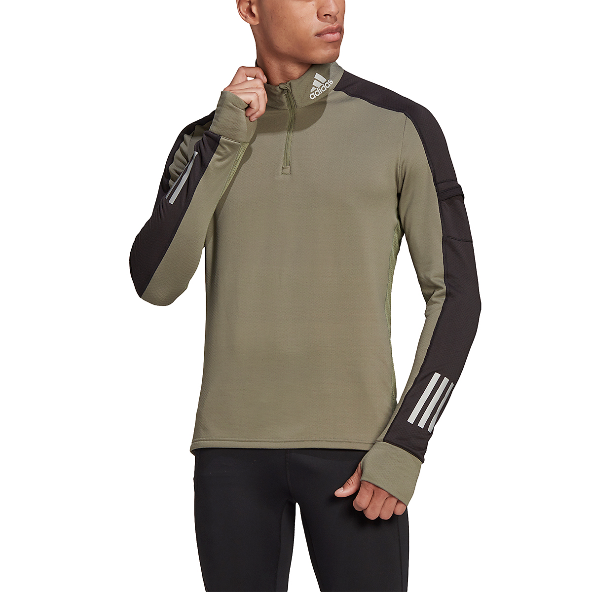 Men's Adidas Own the Run 1/2 Zip Warm Long Sleeve, , large, image 1