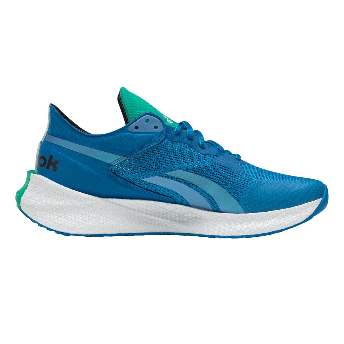 Men's Reebok Floatride Energy Symmetros Running Shoe - Color: Dynamic Blue/Horizon Blue/Court Green - Size: 7 - Width: Regular, Dynamic Blue/Horizon Blue/Court Green, large, image 2