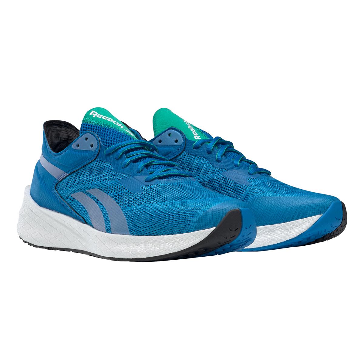 Men's Reebok Floatride Energy Symmetros Running Shoe - Color: Dynamic Blue/Horizon Blue/Court Green - Size: 7 - Width: Regular, Dynamic Blue/Horizon Blue/Court Green, large, image 3