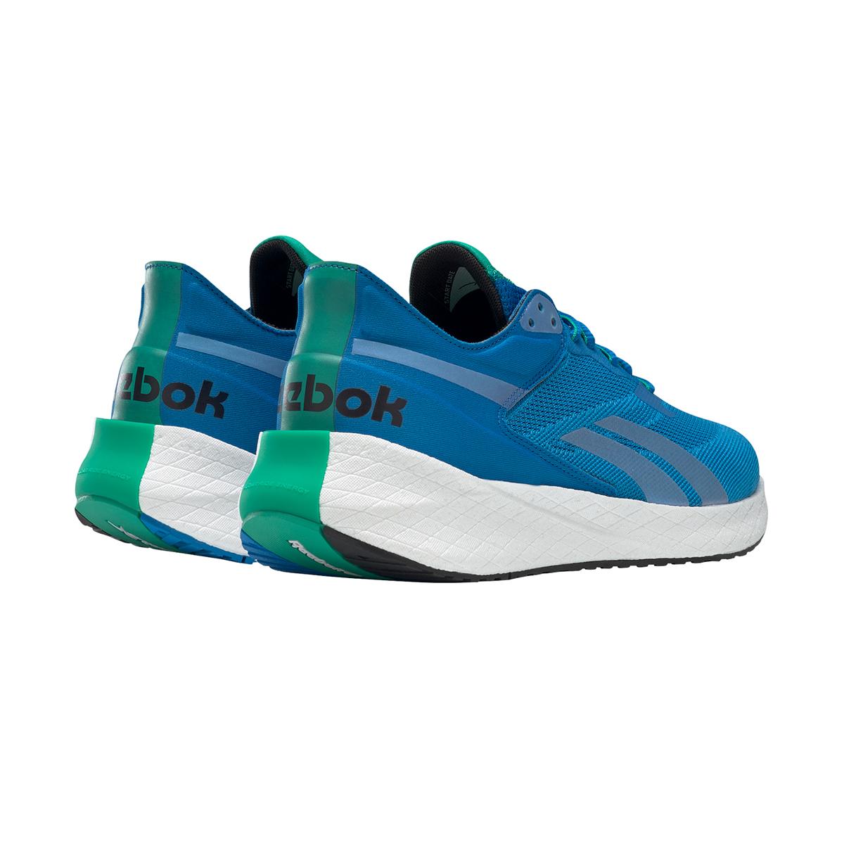 Men's Reebok Floatride Energy Symmetros Running Shoe - Color: Dynamic Blue/Horizon Blue/Court Green - Size: 7 - Width: Regular, Dynamic Blue/Horizon Blue/Court Green, large, image 4