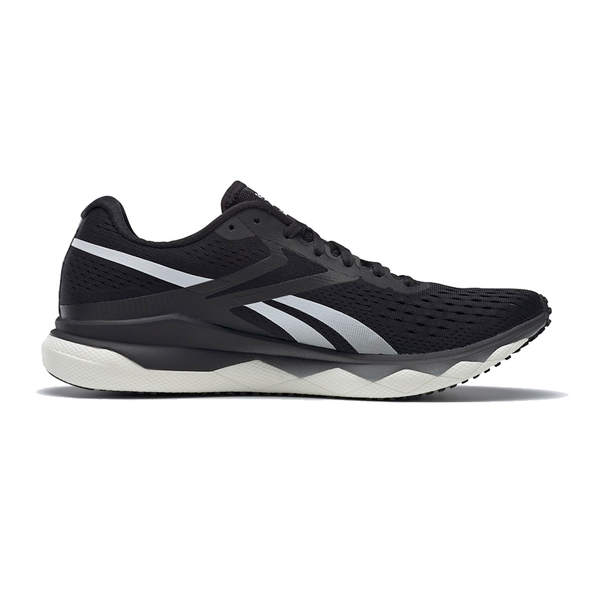 Men's Reebok Floatride Run Fast 2.0 Running Shoe - Color: Black/Pure Grey - Size: 7 - Width: Regular, Black/Pure Grey, large, image 1